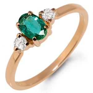 кольцо золотое с изумрудом фото и цена